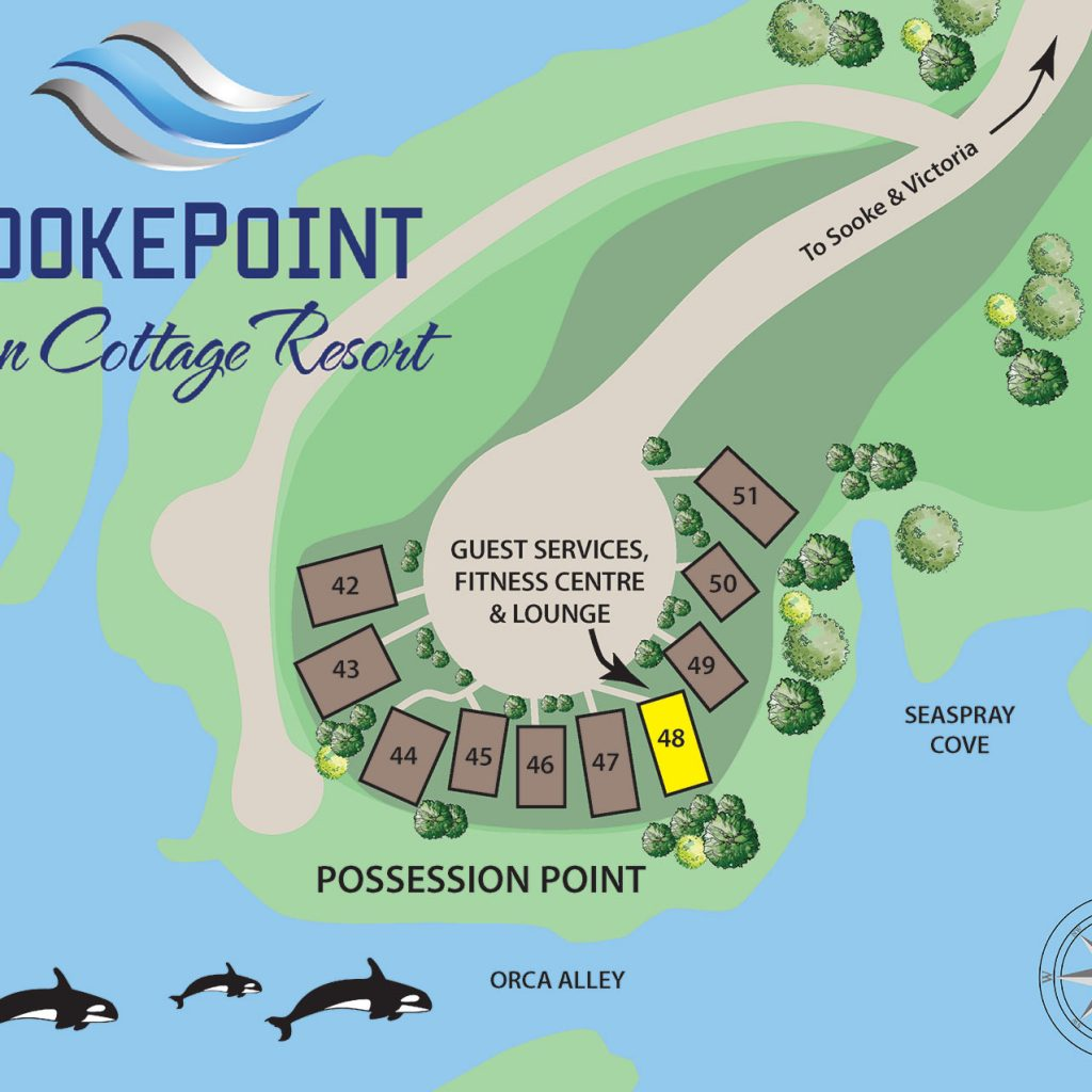 sooke point ocean cottage resort map